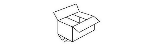 Pudełka klapowe na zamówienie długość 500 mm ( 300 sztuk )